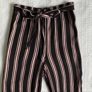 PacSun Striped Cropped Culottes Size Small